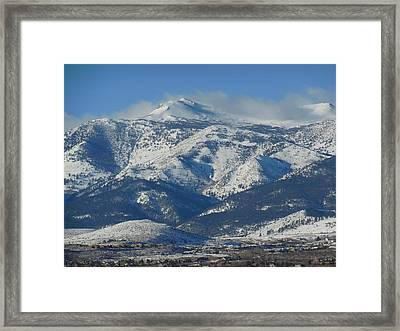 Mt Rose Reno Nevada Framed Print