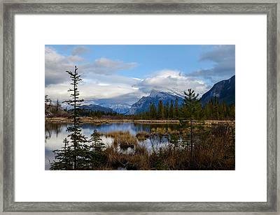 Mt Rundel Over The Lake Framed Print