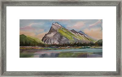 Mt. Rundle Framed Print by Mohamed Hirji