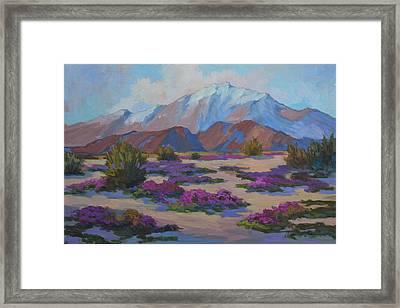 Mt. San Jacinto And Verbena Framed Print