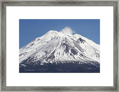 Mt Shasta California Framed Print