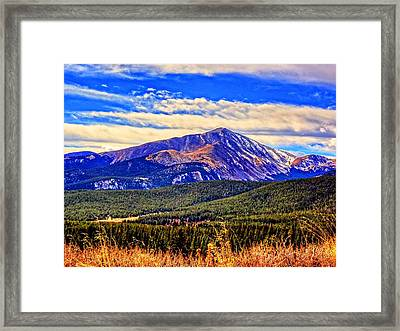 Mt. Silverheels II Framed Print