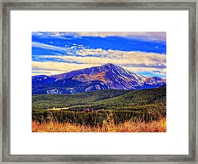 Mt. Silverheels II Framed Print by Lanita Williams