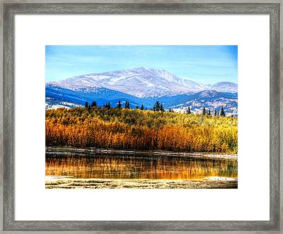 Framed Print featuring the photograph Mt. Silverheels With Aspens by Lanita Williams