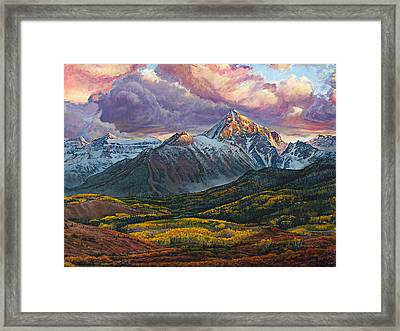 Framed Print featuring the painting Mt. Sneffels by Aaron Spong