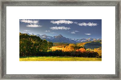 Mt Sneffels And The Dallas Divide Framed Print