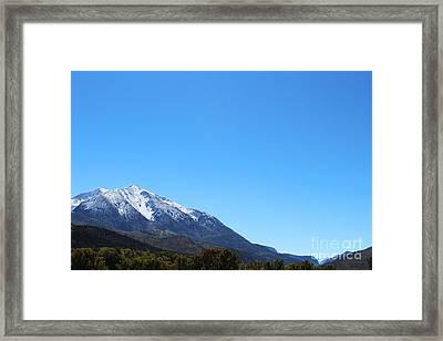 Mt. Sopris Framed Print