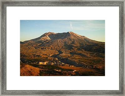 Mt St Helens From Johnsons Observatory Framed Print by Jeff Swan