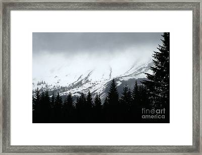 Mt St Helens........a Looming Storm Framed Print by Rich Collins