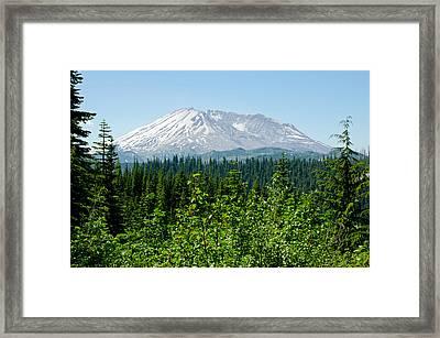 Mt. St. Hellens Framed Print