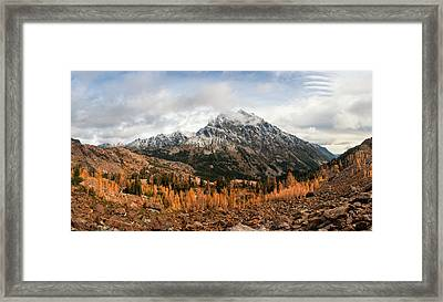 Framed Print featuring the photograph Mt. Stuart by Brian Bonham