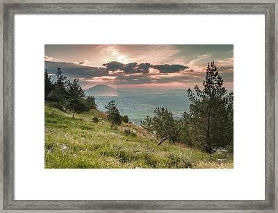 Mt. Tabor From Mt. Of Precipice Framed Print by Sergey Simanovsky