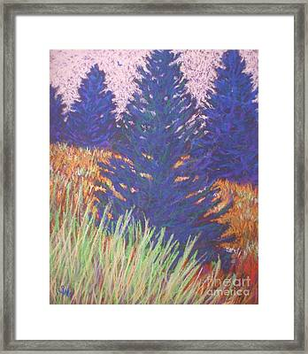Framed Print featuring the painting Mt. Tabor Trees by Suzanne McKay