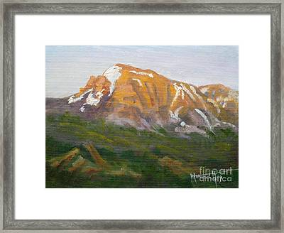 Mt. Tekarra Framed Print