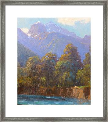 Mt. Tewhero Holyford V.landscape Framed Print by Terry Perham