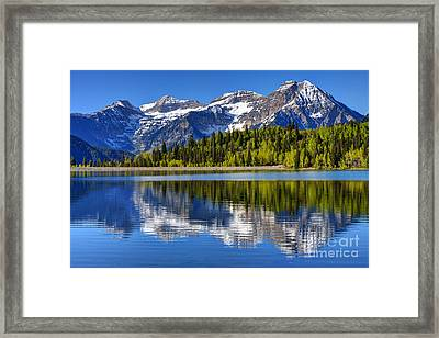 Mt. Timpanogos Reflected In Silver Flat Reservoir - Utah Framed Print