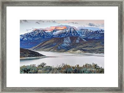 Mt. Timpanogos Winter Sunrise Framed Print