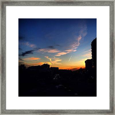 Mt. Vernon Sunset Framed Print