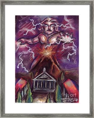 Mt. Vesuvius - Jupiter's Fury Framed Print by Samantha Geernaert