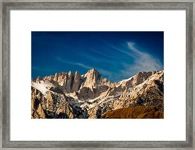 Mt Whitney On A Winter Day Framed Print by Janis Knight