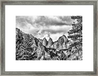 Framed Print featuring the photograph Mt. Whitney by Peggy Hughes