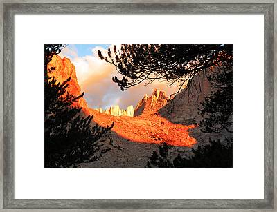Framed Print featuring the photograph Mt. Whitney Sunrise by Alan Socolik