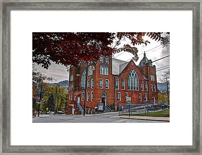 Mt. Zion Baptist Framed Print by Walt  Baker