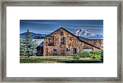 Framed Print featuring the photograph Mt. Adams by Thom Zehrfeld