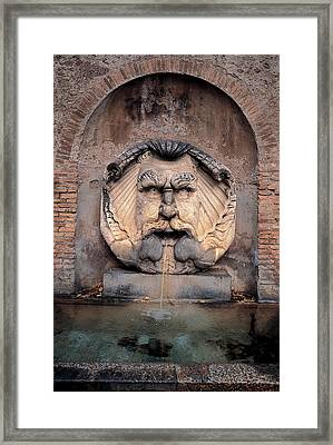 Mu Oz Munoz Antonio, Fountain Framed Print by Everett