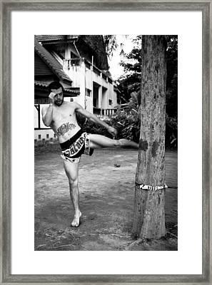 Muay Thai Sangha Framed Print