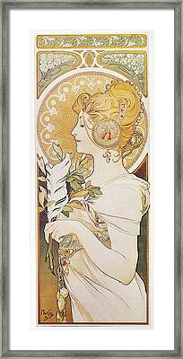 Mucha Feather, 1899 Framed Print by Granger