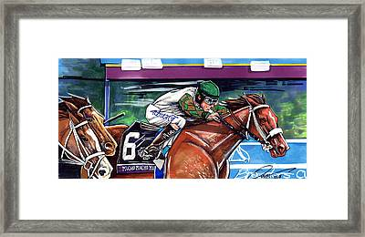Mucho Macho Man Framed Print by Dave Olsen
