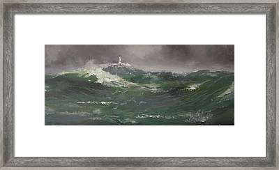 Muckle Flugga Lighthouse Shetland Framed Print