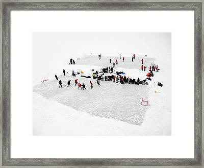Mud Lake Hockey Tournament Framed Print