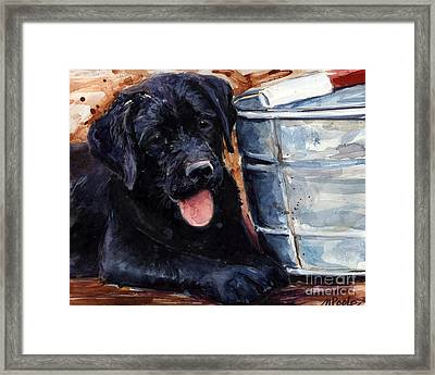 Mud Pies Framed Print by Molly Poole