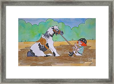 Mud Pony Framed Print