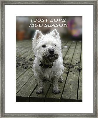 Mud Season Framed Print by Geraldine Alexander