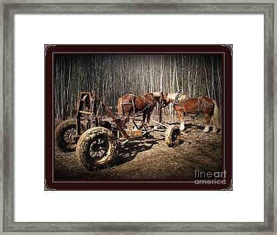 Mud Season - With Border Framed Print by Joy Nichols
