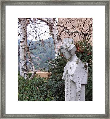 Mud Sprite At The Marin Civic Framed Print by Susan Alvaro