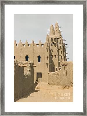 Great Mosque Of Djenne 1959 Framed Print by The Harrington Collection