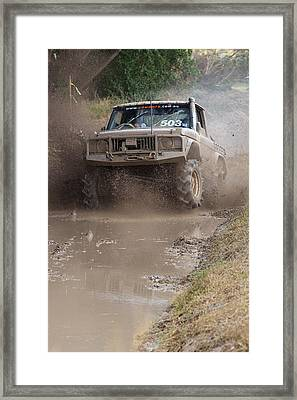 Mudbash - 44 Framed Print