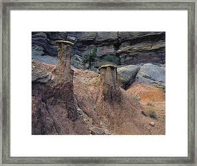 Mudcaps Framed Print