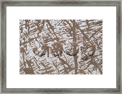 Muddy Jeep Framed Print