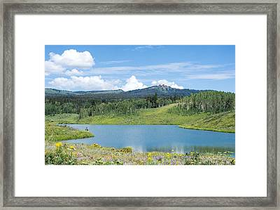 Framed Print featuring the photograph Fishing A Mountain Lake by Jeanne May