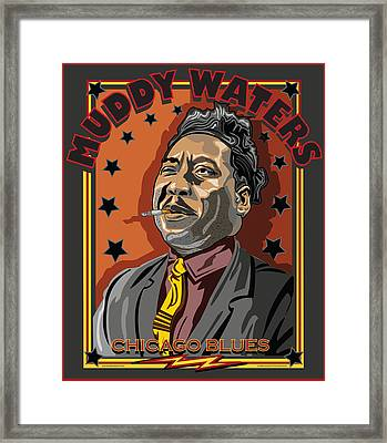 Muddy Waters Chicago Blues Framed Print