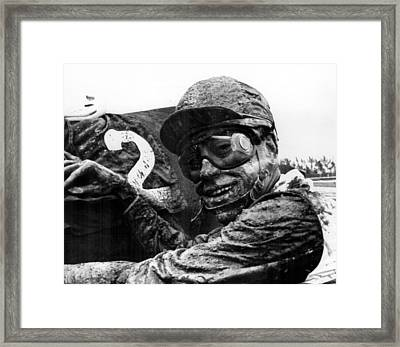 Mudfest Horse Racing Framed Print by Retro Images Archive