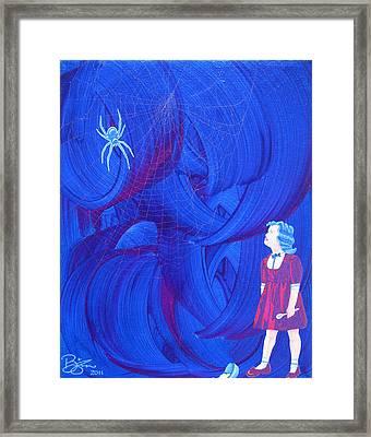Muffet's Last Stand Framed Print by Lance Bifoss
