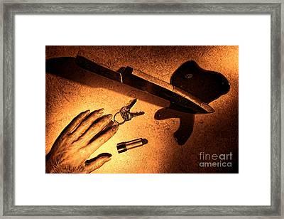 Mugging Framed Print by Olivier Le Queinec