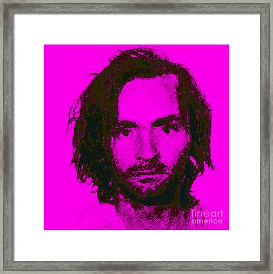 Mugshot Charles Manson M88 Framed Print by Wingsdomain Art and Photography