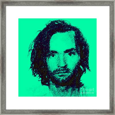 Mugshot Charles Manson P128 Framed Print by Wingsdomain Art and Photography